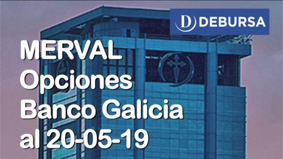 Opciones de GF Galicia al 20 de mayo 2019