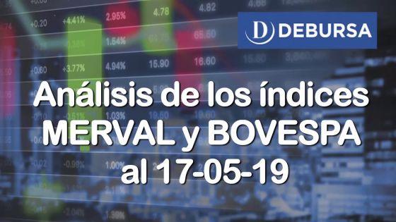 Análisis de los índices MERVAL y BOVESPA al 17 de mayo 2019