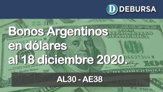 Análisis de los bonos argentinos en dólares al 18 de diciembre 2020