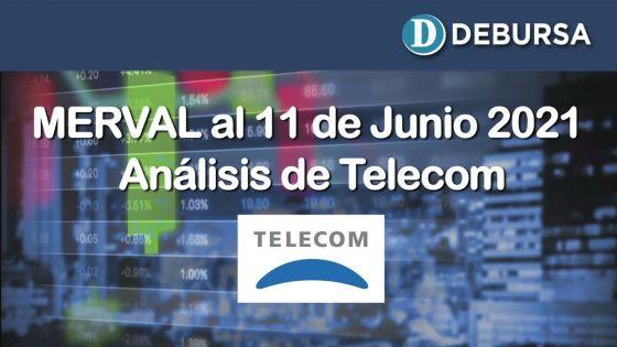 Análsis del MERVAL en pesos y dolares y la evolución de Telecom al 11 de junio 2021