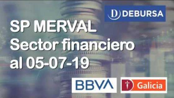 Índice SP MERVAL - Sectores FINANCIAL (Bancos) al 5 de julio 2019