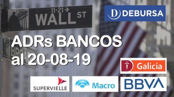 Analisis de las ADRs de Bancos al 20 de Agosto 2019