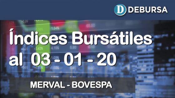 Índices bursátiles al 3 de enero 2020: MERVAL y BOVESPA