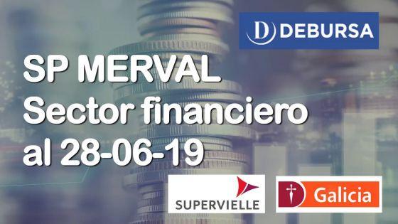 Índice SP MERVAL - Sector Financiero (Bancos) al 28 de junio 2019