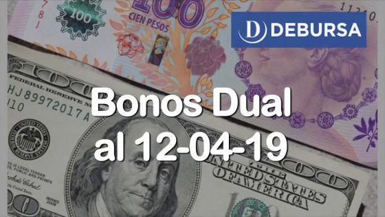 Bonos Dual (Dolar Linked) al 12 de Abril 2019