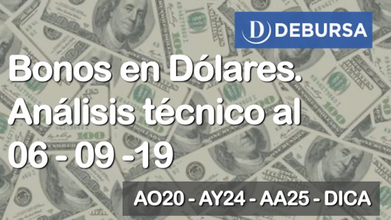Bonos en dólares - Analisis técnico al 6 de Septiembre 2019