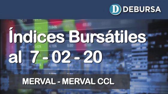 Índices bursátiles al 7 de febrero 2020: MERVAL y MERVAL Contado con Liqui (CCL)