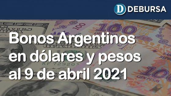 Análisis de los bonos argentinos en dólares y pesos al 9 de abril 2021