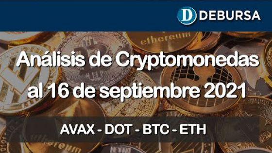 Análisis de cryptomonedas al 16 de septiembre 2021