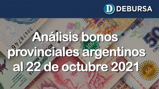 Análisis bonos provinciales argentinos al 22 de octubre 2021