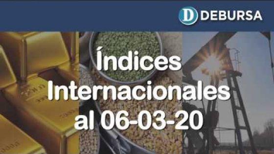 Contexto internacional: análisis de la economia mundial a través de índices al 6 de marzo 2020