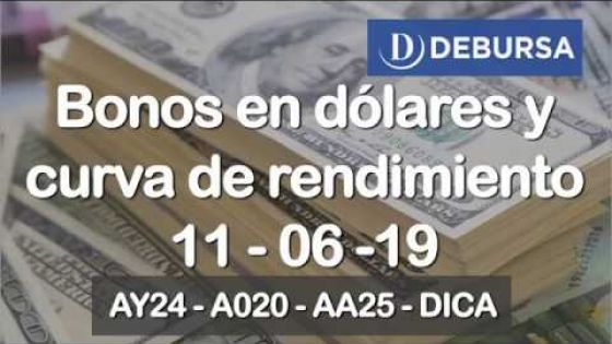Bonos argentinos en dólares al 11 de junio 2019