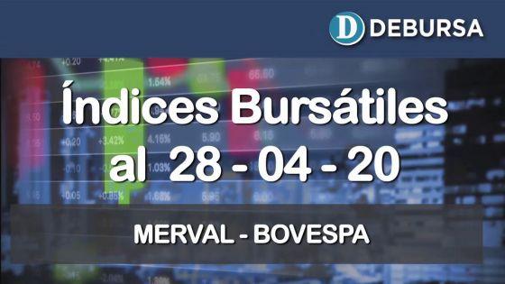 Índices bursátiles al 24 de abril 2020: MERVAL y BOVESPA