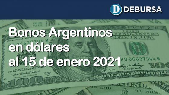 Análisis de los bonos argentinos en dólares al 15 de enero 2021