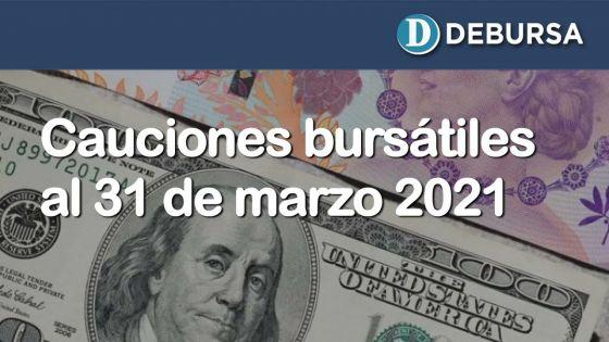 Cauciones bursátiles en pesos y dólares al 31 de marzo 2021
