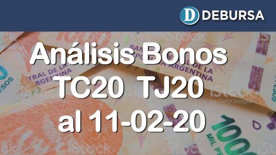 Analisis de los Bonos en pesos TC20 y TJ20 al 11 de febrero 2020