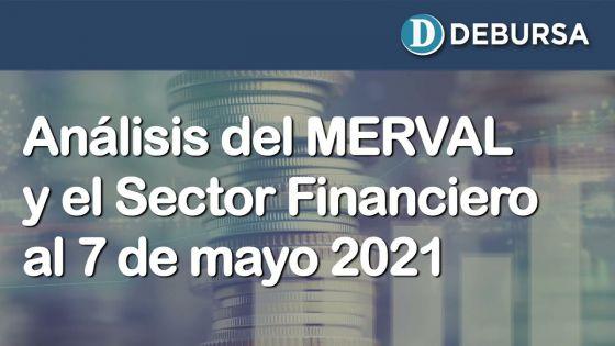 Evolución del índice MERVAL y el Sector Financiero al 7 de mayo 2021