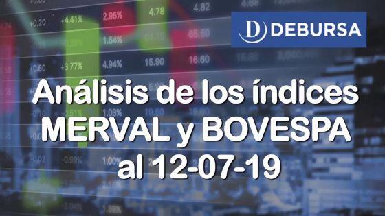 Análisis de los Índices MERVAL y BOVESPA al 12 de Julio 2019