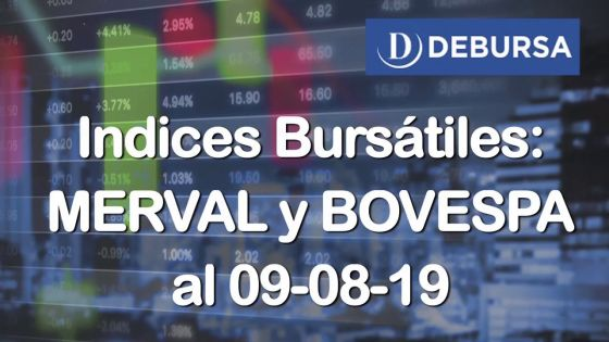 Índices Bursátiles: análisis del MERVAL y BOVESPA al 9 de agosto 2019