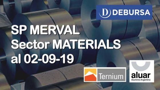 SP MERVAL - Análisis del sector Materials (industria) al 2 de septiembre 2019