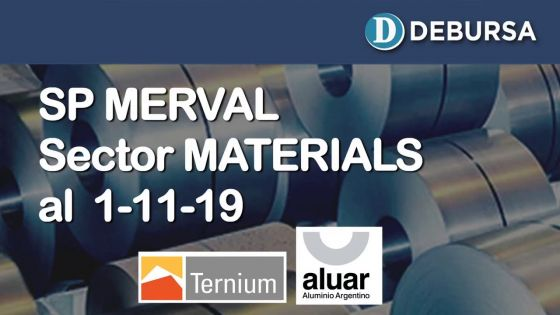 SP MERVAL - Análisis del sector Materials (industria) al 1ro de noviembre 2019
