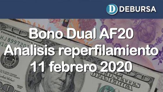 Bono Dual AF20 - Análisis post reperfilamiento 11 de febrero 2020