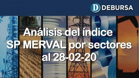 Aálisis del SP MERVAL por sectores, al 28 de febrero 2020.