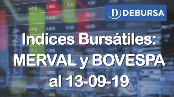 Índices Bursátiles: análisis del MERVAL y BOVESPA al 13 de septiembre  2019