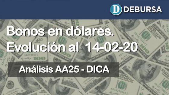 Bonos argentinos emitidos en dólares. Análisis al 14 de febrero 2020