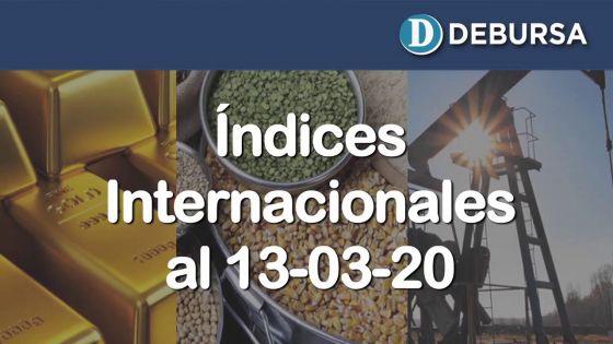 Contexto internacional: análisis de la economia mundial a través de índices al 13 de marzo 2020