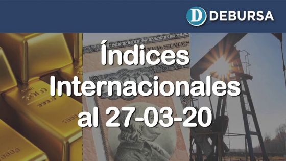 Contexto internacional: análisis de la economia mundial a través de índices al 27 de marzo 2020