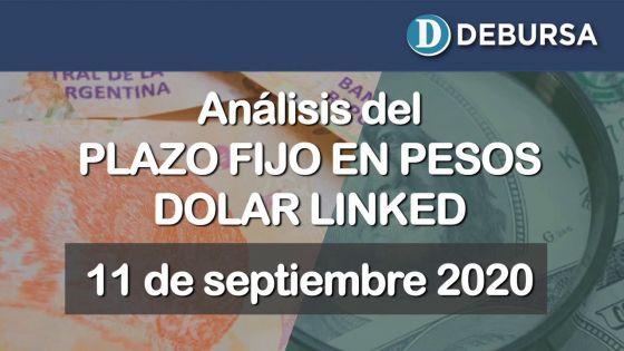 Análisis de los Plazos Fijos en pesos ajustados por dólar oficial. 11 de Septiembre 2020