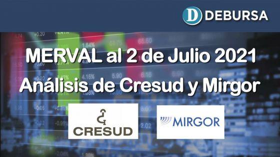 Análsis del MERVAL y evolución de Migror y Censud al 2 de julio 2021