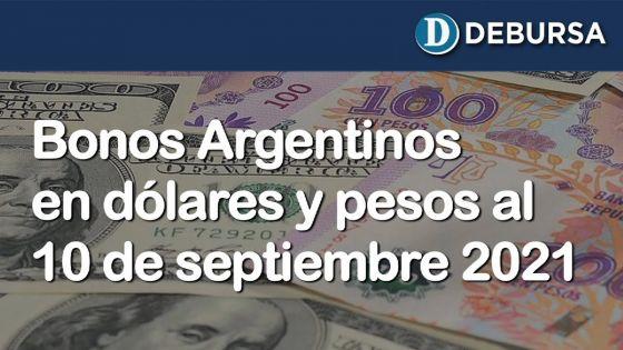 Análisis de los bonos argentinos en dólares y pesos al 10 de Septiembte 2021