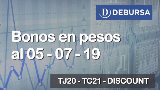 Bonos argentinos en pesos al 5 de julio 2019