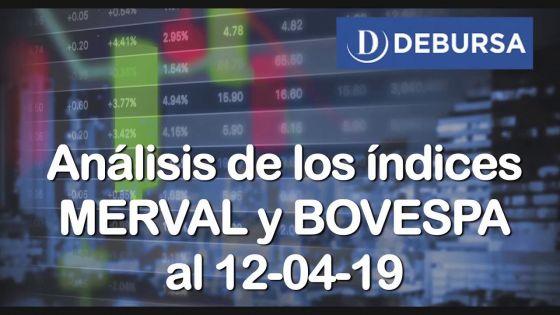 Análisis de los Índices MERVAL y BOVESPA al 12 de abril 2019