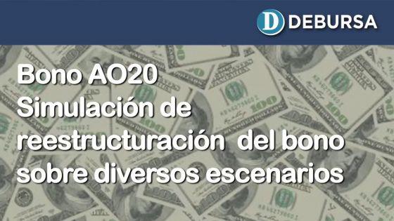 Analisis de escenarios de reestructuración del bono argentino AO20