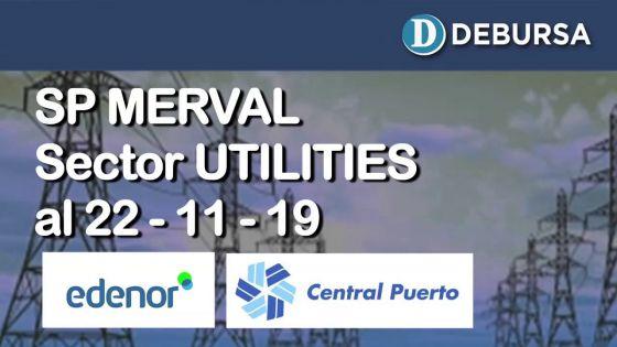 Índice SP MERVAL - Sector Utilities (Electricas) al 22 de noviembre 2019