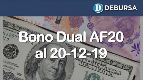 Bono Dual AF20 - Analisis frente al cuadro de reestructuración al 20 de diciembre 2019