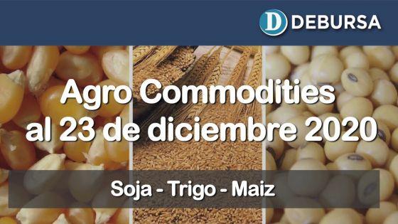 Variaciones de commodities del campo al 23 de diciembre 2020
