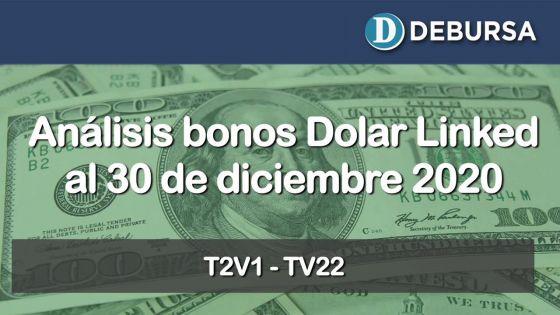 Análisis de los bonos dolar linked al 30 de diciembre 2020