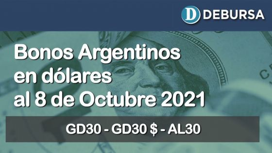 Análisis de los bonos argentinos emitidos en dolares al 8 de octubre 2021