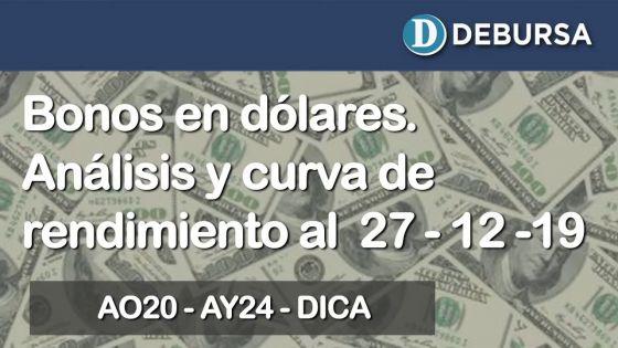 Bonos argentinos emitidos en dólares. Análisis al 27 de diciembre del 2019