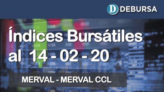 Índices bursátiles al 14 de febrero 2020: MERVAL y MERVAL Contado con Liqui (CCL)