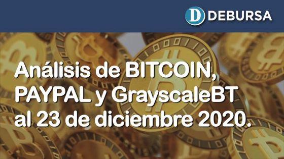 Análisis del BITCOIN, PAYPAL y GreyscaleBT al 23 de diciembre 2020 (complemento)