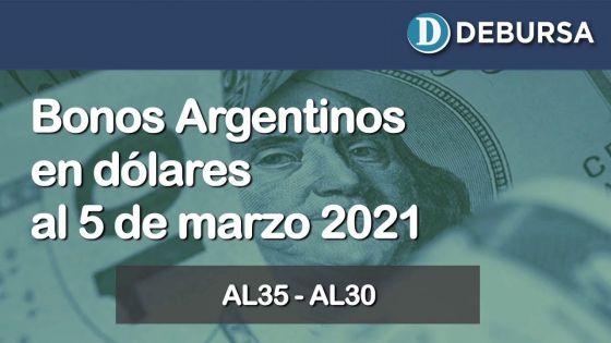 Análisis de los bonos argentinos en dólares al 5 de marzo 2021