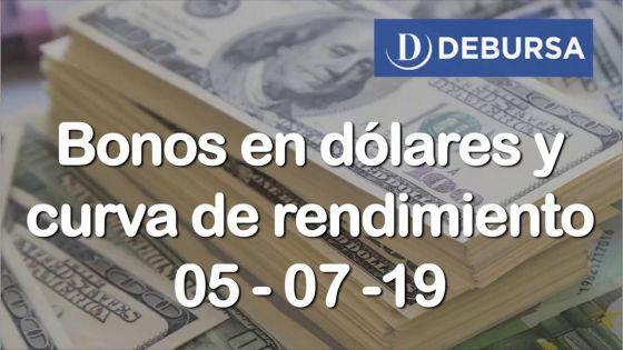 Bonos argentinos en dólares al 5 de julio 2019