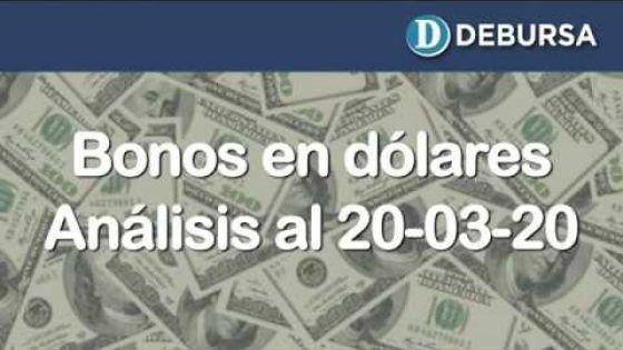 Bonos argentinos emitidos en dólares. Análisis al 20 de marzo 2020