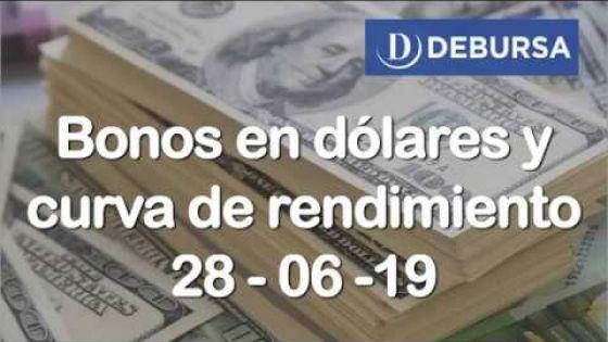 Bonos argentinos en dólares al 28 de junio 2019