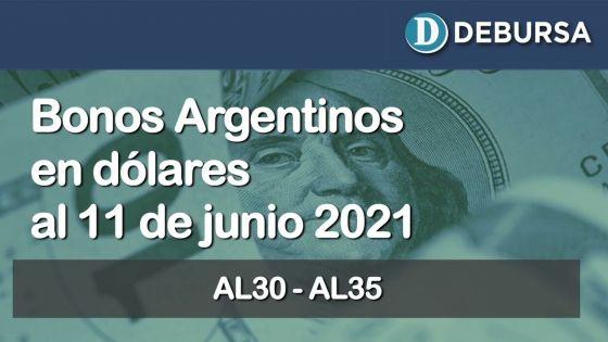 Análisis de los bonos argentinos emitidos en dolares al 11 de junio 2021